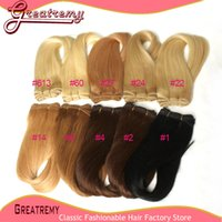 Malaysian Hair 1 18 - 3pcs Colored Human Hair Extensions More Colors Brazilian Hair Weft Hair Weave More Soft Top Quality