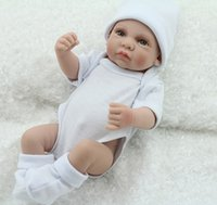 Wholesale 28cm Full silicone newborn baby doll lifelike realistic soft dolls baby sleeping bonecas brinquedos