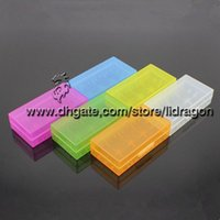 Wholesale Battery box battery storage case plastic battery storage container pack or for ecig mechanical mod battery