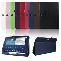 auto black book - Folio Slim Leather Case for Samsung Galaxy Tab P5200 inch Tablet Auto Sleep Wake Book Style Stand Cover with Stylus Loop