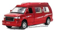 big gmc - 1 Alloy Diecast Metal Car Model For GMC Savana Collection Pull Back Toys Car With Sound Light Red White Black