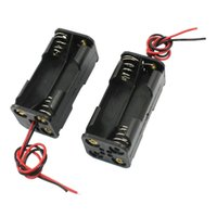 Cheap FS Hot 2pcs Black 2-Layers 4 x 1.5V AAA Battery Box w Wire Leads order<$18no track