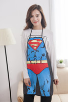 Wholesale Supergirl Superman Apron inches Armors Polyester Comics Character Cartoon super woman creative Couples apron gift new