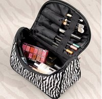 Wholesale Portable Zebra Travel Wash Storage Toiletry Pouch Cosmetic Case Makeup Bag