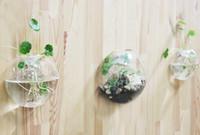 Декор аквариума Цены-3pcs / set ясная стеклянная ваза цветка вазы цветка, стена аквариума террариума стены DIY суккулентная для домашнего декора, украшения стены, украшения сада