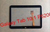 Wholesale For Samsung Galaxy Tab P5200 P5210 Outer Glass Touch Screen Panel Digitizer Handwritten Panel Black and White