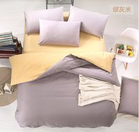 Wholesale Solid Color bedding sets queen size styles pure cotton high quality bed in a bag new
