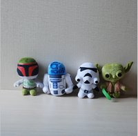 animal war games - EMS styles Star Wars Plush Toy Cartoon Cute For Children Super Deformed Boba robot Stormtrooper Darth Stuffed Animals Soft Doll cm E135