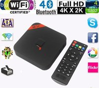 Wholesale 5pcs MXQ TV BOX Kodi14 Amlogic S805 Quad Core Android Kitkat K GB GB XBMC13 WIFI Airplay Miracast D DS1