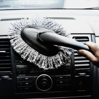 Wholesale 1pc Multi functional Car Duster Cleaning Dirt Dust Clean Brush Dusting Tool Mop Gray car cleaning products Worldwide