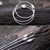 aircraft screws - Screw Locking Key Chain Rings Stainless Steel Aircraft Cable Wire Outdoor Traveling Kits