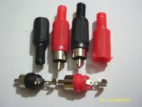 audio connector types - 20 RCA Plug Solder Type Audio Cable Connector Red and black