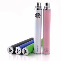Wholesale Newest iSmile usb passthrough battery with pin charger cable for ego thread Aerotank mega turbo Genitank mini dual protank atomizers