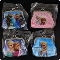 Wholesale NEW HOT x FROZEN Hasp Coin Purses PVC Mini Wallets Mix Elsa Anna Cartoon Character Girls Children Kid Party Favor Gift Fashion