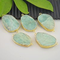 Wholesale New Druzy Stone Connectors Beads in Pendant Jewelry Making
