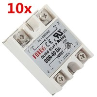 Wholesale 10pcs CE Certificated SSR DA SSR Solid State Relay Module A Output AC90 V Input for DC3 V New