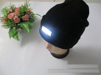 Wholesale 2016 New designs Led Winter Beanie fashion led glowing knitted caps Glowing Hat led glow knitting hat Crochet hat good quality DHL C443