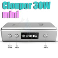 Wholesale high quality Cloupor Mini W VV VW Mode Box Mod E Cigarette Cloupor Mini W Fit sub ohm Tank vs Aesop W mod