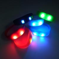 activate band - Silicone Flashing LED Shake Vibration Activated Motion Sensor Bracelet Bracelets Wrist band bands Disco Bangle FAST SHIPPING