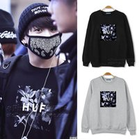 beat woman - BTS Bangtan Boys JUNGKOOK Street beat Airport with paragraph sweater autumn and winter clothes for men and women should aid