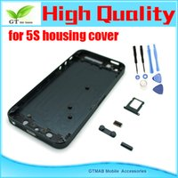 Wholesale 10pcs good quality housing Replacement Parts For Apple iPhone S Back Cover Full Housing black color