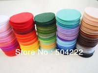 Wholesale 2000pcs cm nonwoven Felt Pack Felt Circles multiple Colors or specified colors BY0078 mm