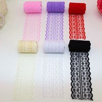 Wholesale yards Beautiful Handcrafted Embroidered Net Lace Fabric Sewing Lace Trim Ribbon DIY Costume Decoration YR0001 smileseller
