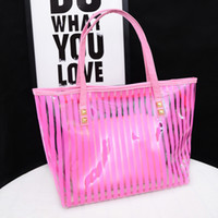 Wholesale 2015 summer new hot picture crystal clear roads handbag shoulder portable handbags trade jelly