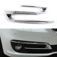 abs light car - 2 Set Car Styling Front Fog Light Lamp Cover Trim Frame ABS Chrome For BMW Series F10