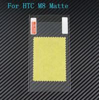 Precio de Pantallas digitales-Teléfono móvil helada antideslumbrante del protector de la pantalla huella digital anti mate del protector de la pantalla para HTC uno M8 ninguna caja al por menor