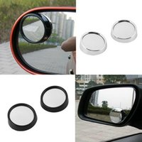 Wholesale 1Pair Auto Side Wide Angle Round Convex Mirror Car Vehicle Blind Spot Dead Zone Mirror RearView Mirror Small Round Mirror