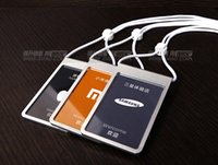 Wholesale 2015 Quality work permit card ID badge holder name card Samsung apple store standard badge Office student publicist work card
