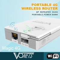 Wholesale Authorized Vonets Magic G WIFI G G Mbps Wireless Router Repeater Extender Signal Booster Internal Backup Power Bank