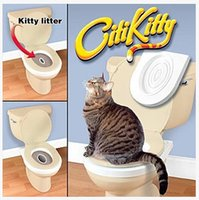 cat litter - Plastic Easy to Learn Cat Toilet Training Kit for pet Training and Behaviour Aids drop shipping order lt no tracking