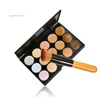 Wholesale Professional Cosmetic Salon Party Colors Palette Face Cream Makeup Concealer Palette Make up Set Tools With Brush DHL