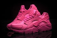 Wholesale Drop shipping newest womens Classic pink Air Huarache BRONZINE Running Shoes Sneaker Breathable Huaraches Size