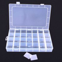 band container - 24 Compartments Transparent Plastic Adjustable Loom Bands Box Storage Case Small items Container