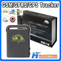 automotive shocks - Quadband Car GPS Tracker GPS GSM TK102 Personal GPS Tracker Shock Sensor Alarm Function Memory Card Slot Tracking Device With Charger