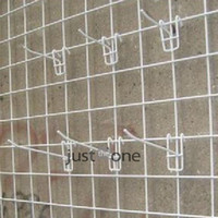 Wholesale 5 x Strong Slate Metal Grid Wall Pegboard Peg Hook Hanger Jewelry Display Rack
