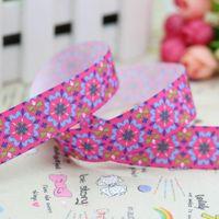 beautiful grosgrain - 7 quot mm Popular Hot Pink Beautiful Flowers Printed Grosgrain Ribbon for Bows Crafts Decorations Yards