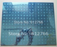 Wholesale big template image plate A amp B template nail stamp