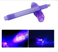 Wholesale Brand new Magic Purple In UV Black Light Combo Creative Stationery Invisible Ink Pen