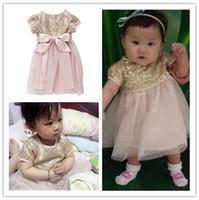 baby batik - 6m y Summer Baby Dress New Fashion Brand Girl Sequins Dresses Bow Tulle European Style Elegant Cute Girl Clothing