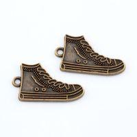 antiques shoes - Hot Antique bronze Alloy High Top Tennis Shoes Charm Pendants x mm DIY Jewelry