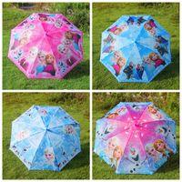 Wholesale 2015 froze Umbrella cartoon elsa anna olaf Rain and Sun Proof Children Umbrella cm DHL Hot Cute