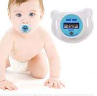 Wholesale Topseller Baby Infants LCD Termometro Digital Mouth Nipple Pacifier Thermometer Temperature Practical Diagnostic tool Monitores