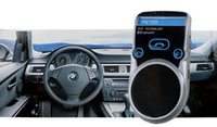 Wholesale Solar Powered Bluetooth Car Kit Handsfree FM MP3 Player G3 with LCD Caller ID drop shipping