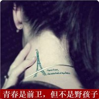 Wholesale Harajuku letter personality waterproof tattoo stickers female
