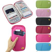 Wholesale Travel Bag Pouch Passport ID Credit Card Wallet Cash Holder Organizer Case Box Freeshipping