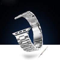 Wholesale 2015 Newest Fashion Luxury HOCO Apple Watch Band Stainless Steel Watch Bracelet Strap With Adapter Metal Connector For iWatch mm mm